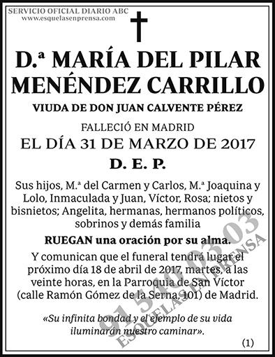 María del Pilar Menéndez Carrillo
